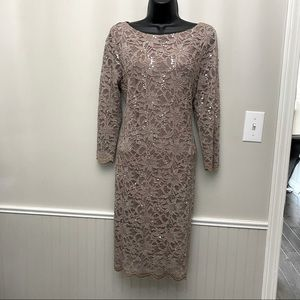Laura Petites Lace and Sequin Shift Dress